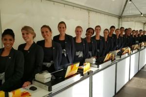 Hostesses Ontvangst en Registratie viering 200 jaar Koninkrijk Carré Amsterdam
